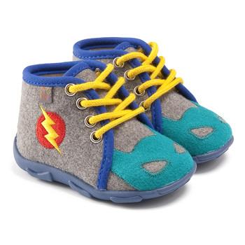 Boty Chlapecké Papuče GBB SUPER BOYS Šedá-modrá