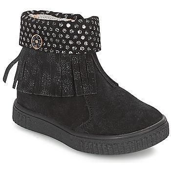 Boty Dívčí Kotníkové boty Catimini PERETTE Černá / Stříbřitá