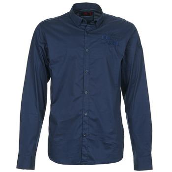 Textil Muži Košile s dlouhymi rukávy Les voiles de St Tropez ACOUPA Tmavě modrá