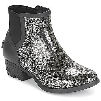 Boty Ženy Kotníkové boty Sorel JANEY™ CHELSEA Černá / Stříbřitá