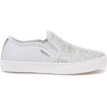 Boty Děti Street boty Geox JR Kilwi Girl Bílé,Stříbrné