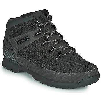Boty Muži Kotníkové boty Timberland Euro Sprint Fabric WP Černá