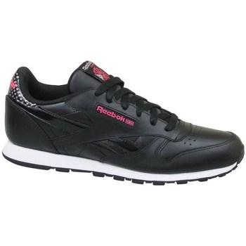 Boty Děti Nízké tenisky Reebok Sport CL Leather Girl Squad Černé