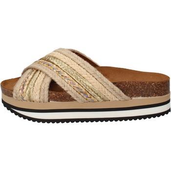 Boty Ženy pantofle 5 Pro Ject sandali beige tessuto oro AC586 Beige