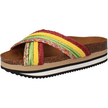 Boty Ženy pantofle 5 Pro Ject sandali verde tessuto giallo AC589 Multicolore