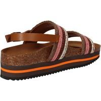 Boty Ženy Sandály 5 Pro Ject sandali rosa tessuto marrone AC592 Rosa