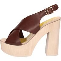 Boty Ženy Sandály Suky Brand sandali marrone pelle AC799 Marrone