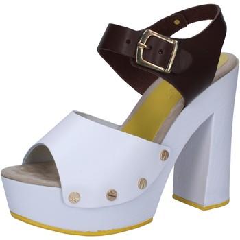 Boty Ženy Sandály Suky Brand sandali bianco pelle marrone AC809 Multicolore