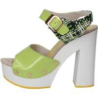 Boty Ženy Sandály Suky Brand sandali verde vernice tessuto AC811 Verde
