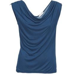 Textil Ženy Tílka / Trička bez rukávů  DDP CARLA Tmavě modrá