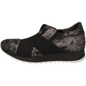Boty Ženy Nízké tenisky Andia Fora sneakers argento tessuto nero pelle AD326 Nero