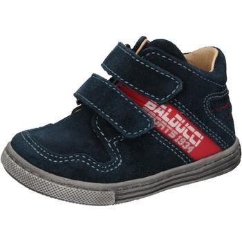 Boty Chlapecké Kotníkové tenisky Balducci sneakers blu camoscio AD585 Blu