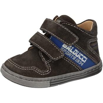 Boty Chlapecké Kotníkové tenisky Balducci sneakers grigio camoscio AD586 Grigio