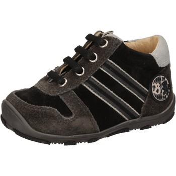 Boty Chlapecké Kotníkové tenisky Balducci sneakers nero camoscio AD596 Nero