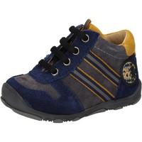 Boty Chlapecké Kotníkové tenisky Balducci sneakers blu camoscio grigio AD597 Blu