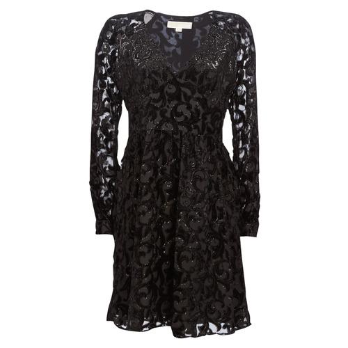 Textil Ženy Krátké šaty MICHAEL Michael Kors RAGLAN SLV SHORT DRS Černá