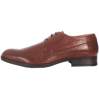 Boty Muži Šněrovací společenská obuv Jack & Jones 12125335 JFWSAMMY LEATHER COGNAC Marrón