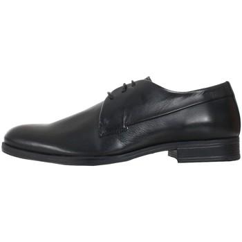 Boty Muži Šněrovací společenská obuv Jack & Jones 12125333 JFWSAMMY LEATHER ANTHRACITE Negro