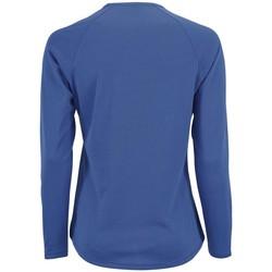 Textil Ženy Trička s dlouhými rukávy Sols SPORT LSL WOMEN Azul