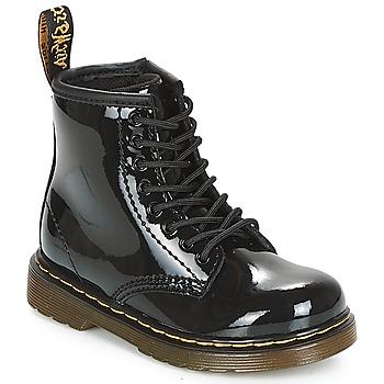 Boty Dívčí Kotníkové boty Dr Martens 1460 PATENT CADET Černá