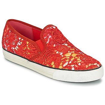 Boty Ženy Street boty Colors of California LACE SLIP Červená