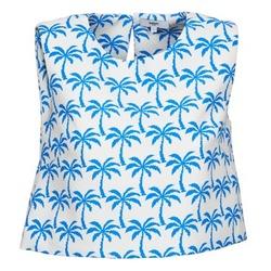 Textil Ženy Tílka / Trička bez rukávů  Suncoo LANA Bílá / Modrá
