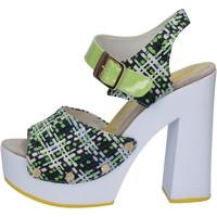 Boty Ženy Sandály Suky Brand sandali verde tessuto vernice AB309 Verde