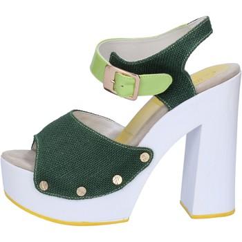 Boty Ženy Sandály Suky Brand sandali verde tessuto vernice AB314 Verde