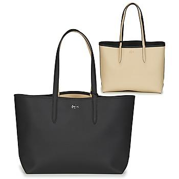 Taška Ženy Velké kabelky / Nákupní tašky Lacoste ANNA Černá / Béžová