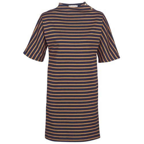 Textil Ženy Krátké šaty Petit Bateau TUESDAY Tmavě modrá / Žlutá