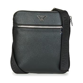Taška Muži Malé kabelky Emporio Armani BUSINESS FLAT MESSENGER BAG Černá