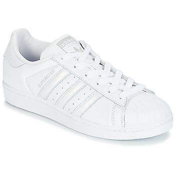 Boty Ženy Nízké tenisky adidas Originals SUPERSTAR W Bílá / Stříbrná