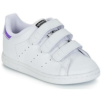 Boty Dívčí Nízké tenisky adidas Originals STAN SMITH CF I Bílá / Stříbrná