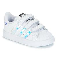 Boty Dívčí Nízké tenisky adidas Originals SUPERSTAR CF I Bílá / Stříbrná