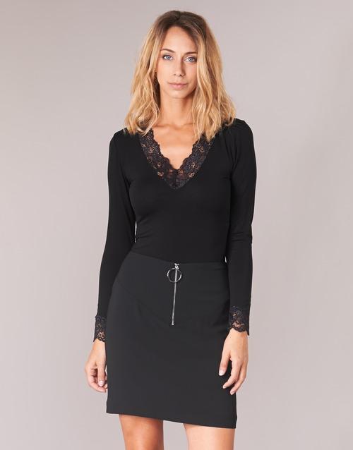 Textil Ženy Trička s dlouhými rukávy Morgan TRACY Černá