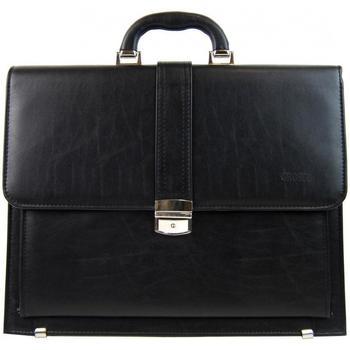 Grosso Taška na notebook Elegantní černá pánská aktovka AGP01 - Černá