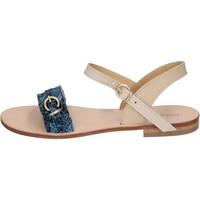 Boty Ženy Sandály Calpierre sandali blu pelle BZ838 blu