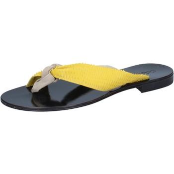 Boty Ženy Sandály Calpierre sandali beige camoscio giallo pelle BZ869 beige