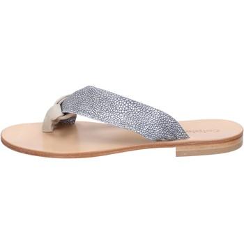 Boty Ženy Sandály Calpierre sandali grigio camoscio beige tessuto BZ880 beige