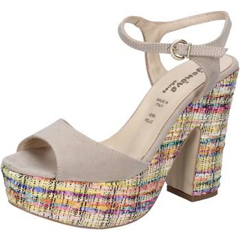 Boty Ženy Sandály Geneve Shoes sandali beige camoscio BZ890 Beige