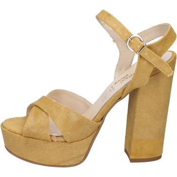 Boty Ženy Sandály Geneve Shoes sandali giallo tessuto BZ892 Giallo