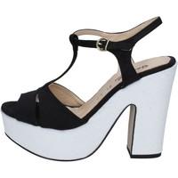 Boty Ženy Sandály Geneve Shoes sandali nero camoscio bianco BZ897 Multicolore