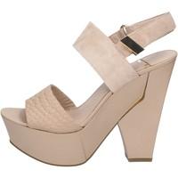 Boty Ženy Sandály Marciano sandali beige camoscio pelle BZ430 Beige