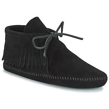 Boty Ženy Kotníkové boty Minnetonka CLASSIC FRINGE Černá