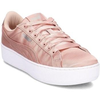 Boty Ženy Šněrovací polobotky  & Šněrovací společenská obuv Puma Vikky Platform EP Růžové