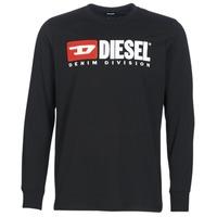 Textil Muži Trička s dlouhými rukávy Diesel T JUST LS DIVISION Černá