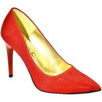 Boty Ženy Lodičky John-C Dámske červené lodičky PAULÍNA červená
