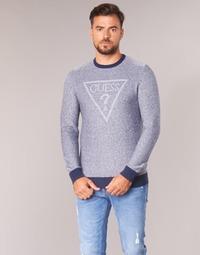 Textil Muži Svetry Guess TAMAC Modrá
