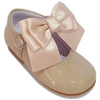 Boty Dívčí Šněrovací polobotky  & Šněrovací společenská obuv Bambi 19580 Hnědá