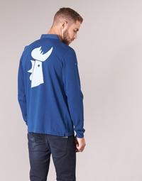Textil Muži Polo s dlouhými rukávy Serge Blanco POLO France Modrá